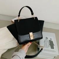 new trapeze handbags women shoulder crossbody bags 2020 luxury design suede casual totes ladies messenger bags female purses
