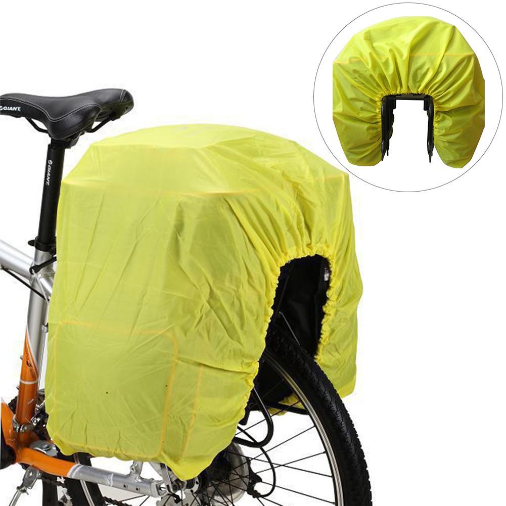 Impermeable alforja bicicleta bolsa cubierta de la lluvia de la equitación de motocicleta asiento trasero bolsa mochila ciclismo bolsas de viaje a prueba de polvo para bicicleta