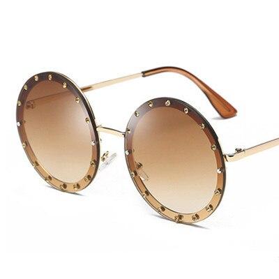 New Vintage Round Rhinestone Sunglasses Women Luxury Brand Retro Yellow Black Shades Diamond Eyewear Uv400 Gafas De Sol Mujer Women S Sunglasses Aliexpress