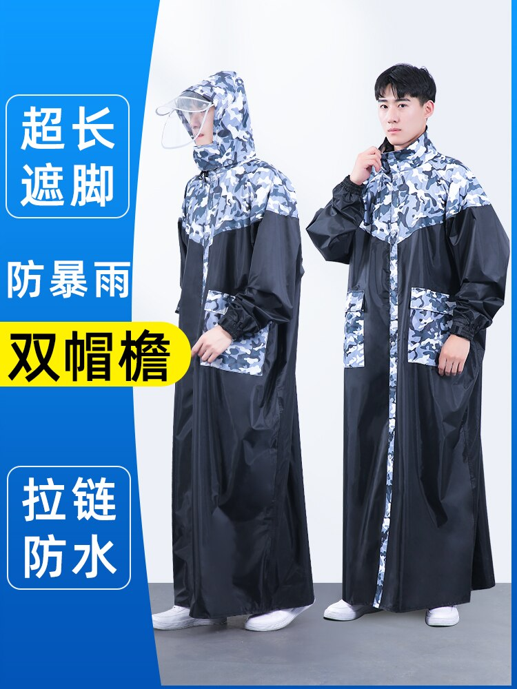 Bicycle Hiking Travel Raincoat Men Fashion Outdoor Raincoat Foldable Double Brim Waterproof Black Regenjacke Home Garden AG50YY enlarge