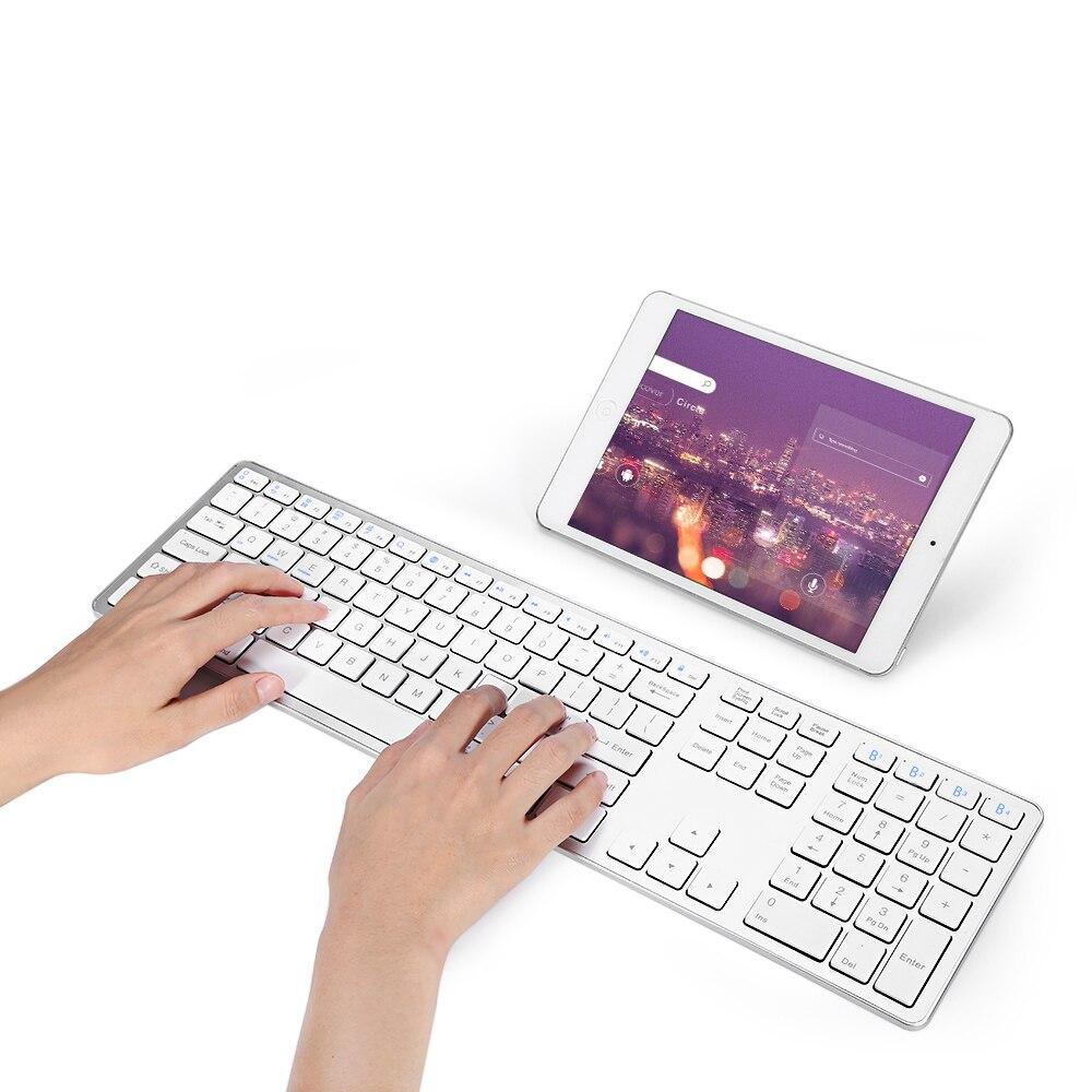 BK418 المحمولة القياسية abs 109 مفاتيح بلوتوث اللاسلكية لوحة المفاتيح اللاسلكية ل iMac/ماك برو/ماك بوك/ماك بوك اير/برو كمبيوتر محمول