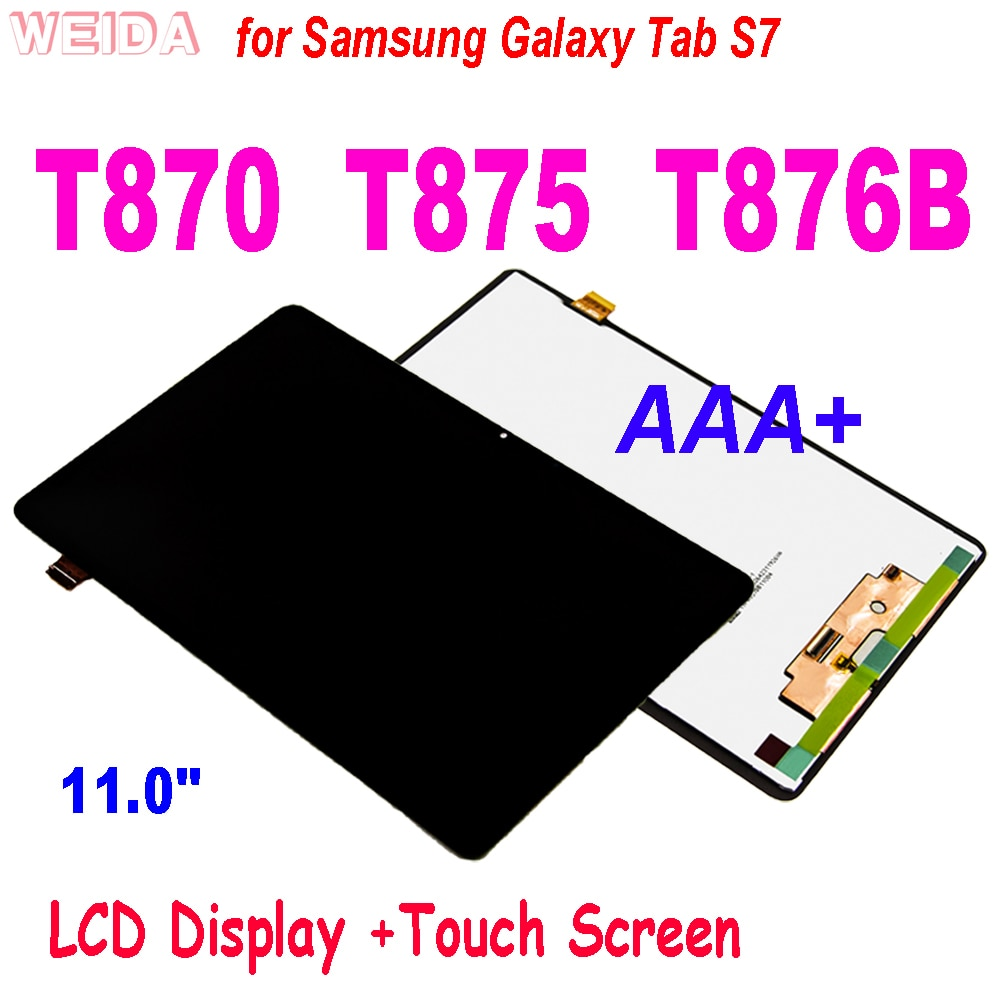 11 0 lcd for samsung galaxy tab s7 t870 lcd display touch screen digitizer assembly for samsung sm t870 t875 t876b lcd screen 11.0 LCD for Samsung Galaxy Tab S7 T870 LCD Display Touch Screen Digitizer Assembly For Samsung SM-T870 T875 T876B LCD Screen