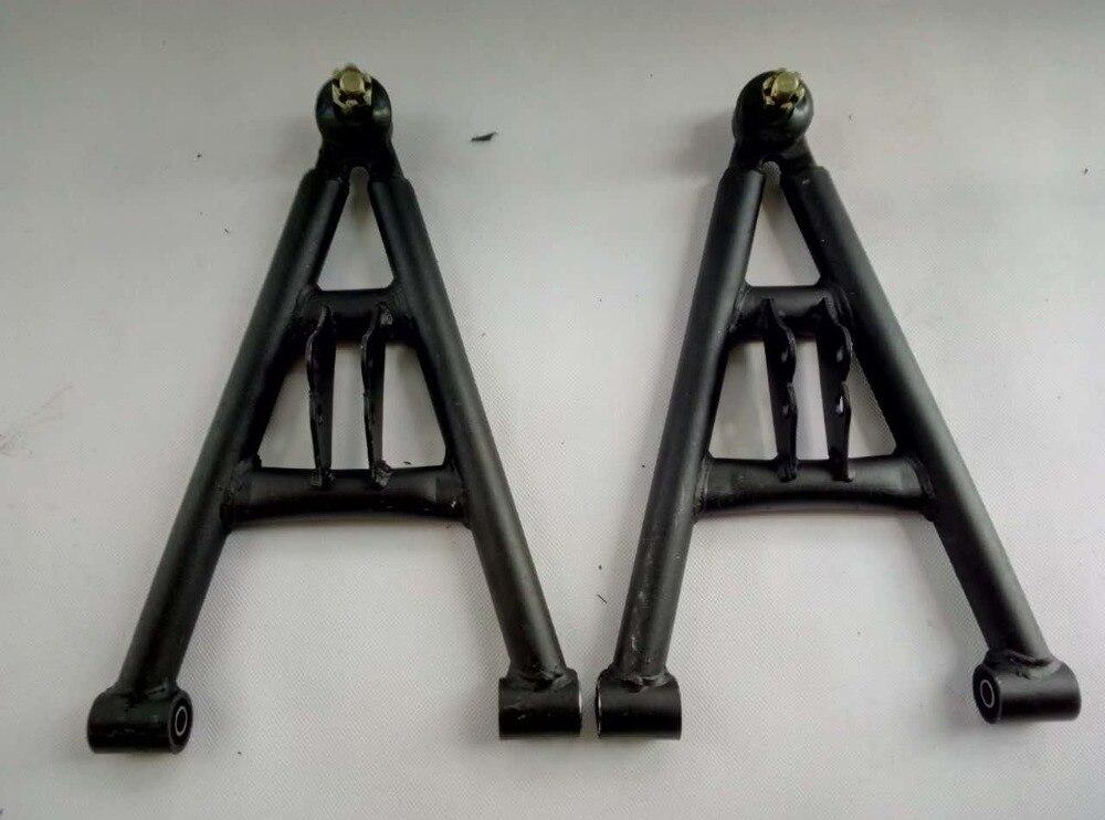 ATV GO KART KARTING DIY Motorcycle Front Axle Steering Suspension Structure Support Swingarms With Shock Absorbers Brake enlarge