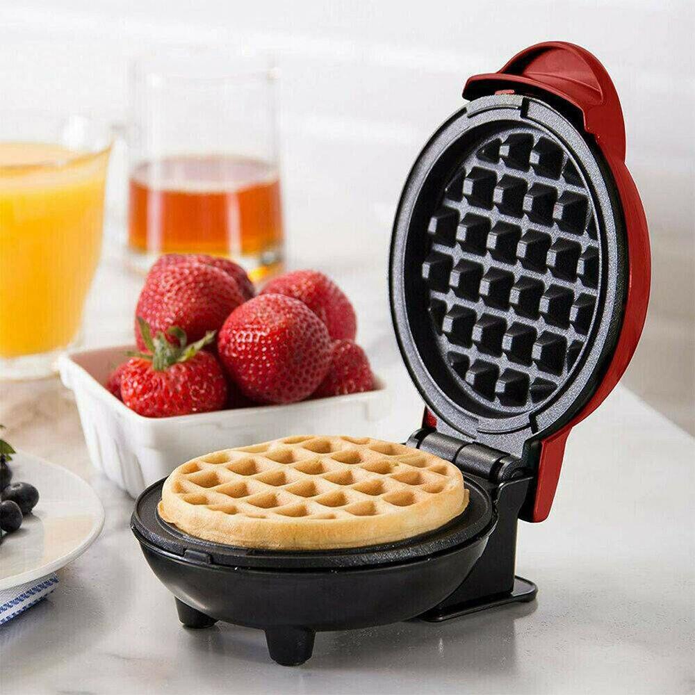 Mini máquina eléctrica para hacer gofres, masa semiesférica, horno de desayuno, máquina de gofres, Mini Waffle Pot US UK AU tapón para EUR