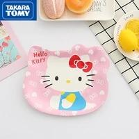 takara tomy fashion cartoon hello kitty cute dip small dish simple household creative personality plastic fruit tray