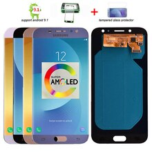 Originale Super Amoled LCD Per Samsung Galaxy J7 Pro 2017 J730 J730F Display LCD e Touch Screen Digitizer Assembly