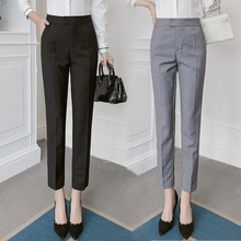 Suit Pants Women's Summer Cropped Pants 2021 New High Waist Spring and Autumn Suit Pants Women's Str