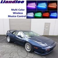 LiandLee Car Glow Interior Floor Decorative Seats Accent Ambient Neon light For Lotus Esprit 5 1993~2004