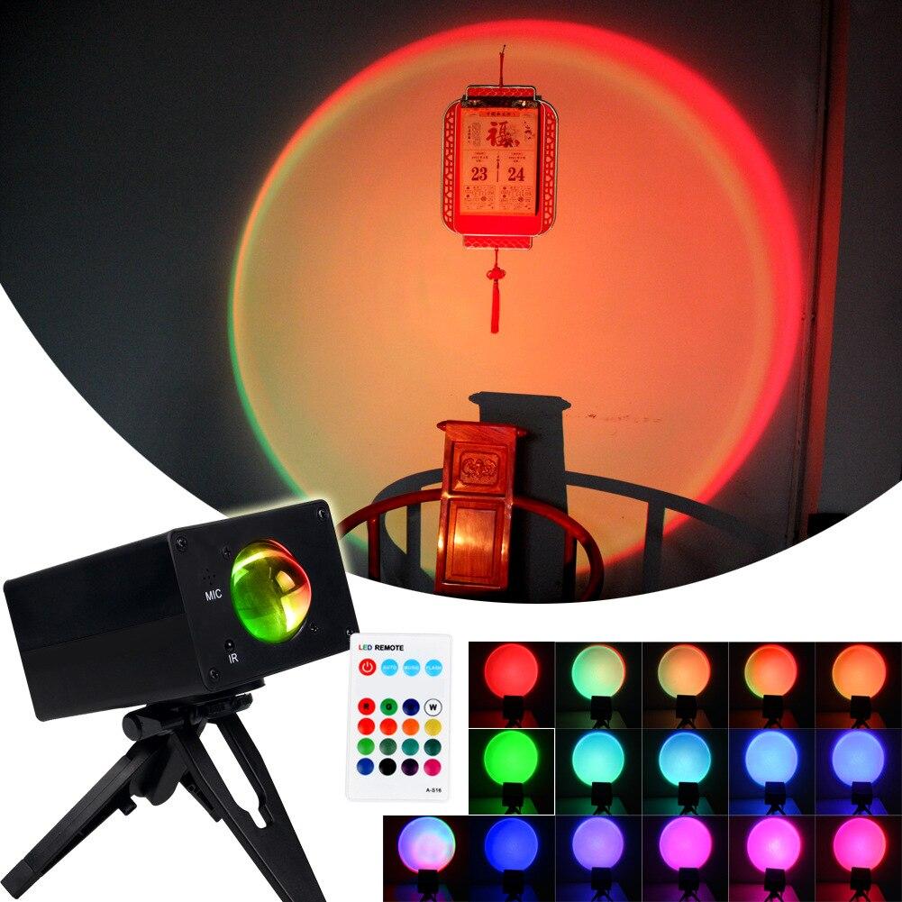 Лампа для проектора с закатом в спальню, красная Радужная лампа с сеткой, атмосферная напольная лампа, светодиодный красочный светильник, к...