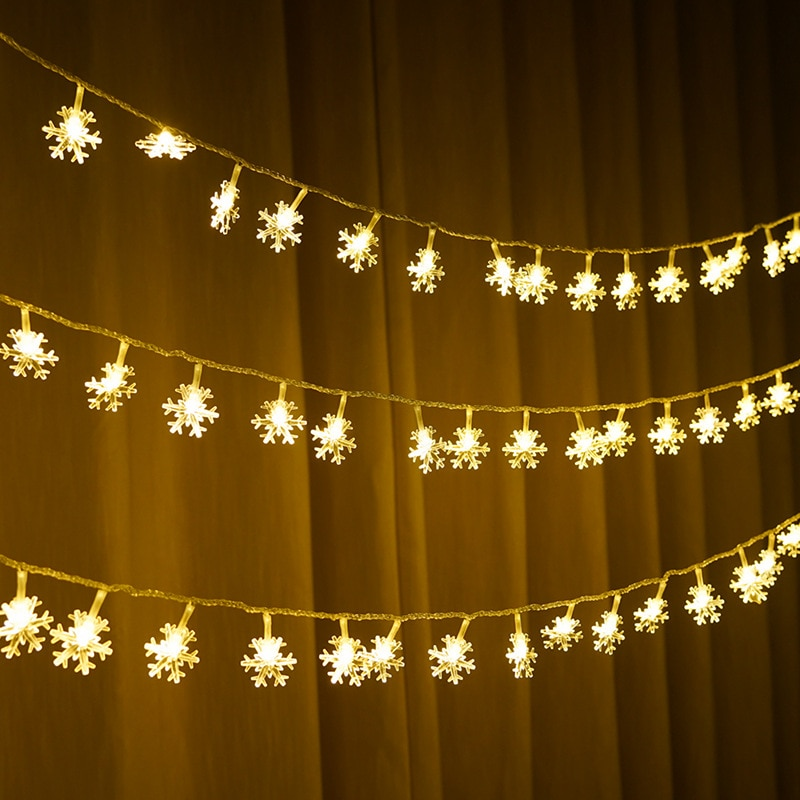 1M 3M 6M Snowflakes Festoon Led Lights String Fairy Lights Holiday Lighting for Wedding Christmas Decoration Xmas Tree Garland 2018 special offer time limited christmas tree new led christmas lighting yard decoration 1 6m led backdrop lamp h199