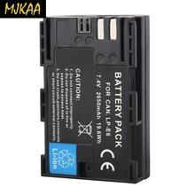 MJKAA 1 Uds 2650mAh LP-E6 LP E6 LPE6 Cámara batería para Canon EOS 5DS R 5D Mark II III 6D 7D 60D 60Da 70D 80D DSLR