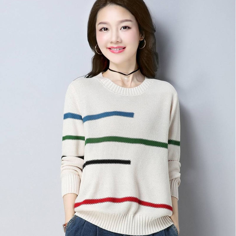 Фото - Womens Sweater Loose 2020 Fashion Autumn Winter Pullover All-Match Office Lady Knitted Top Trend Blusa De Frio Feminina frio