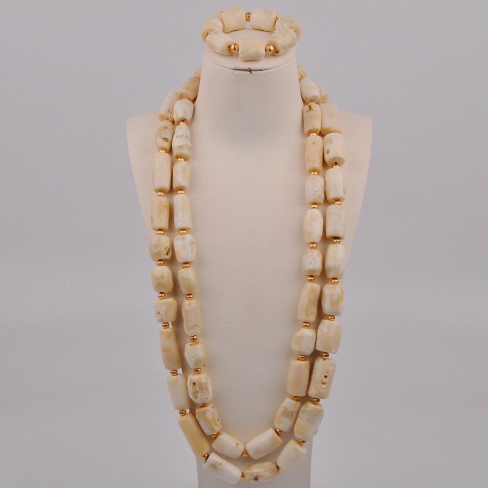 طقم مجوهرات رجالي ، عقد مرجاني ، أبيض ، زفاف نيجيري ، خرز مرجاني ، عريس ، مجموعة مجوهرات أفريقية ، شحن مجاني ، 2-A-04