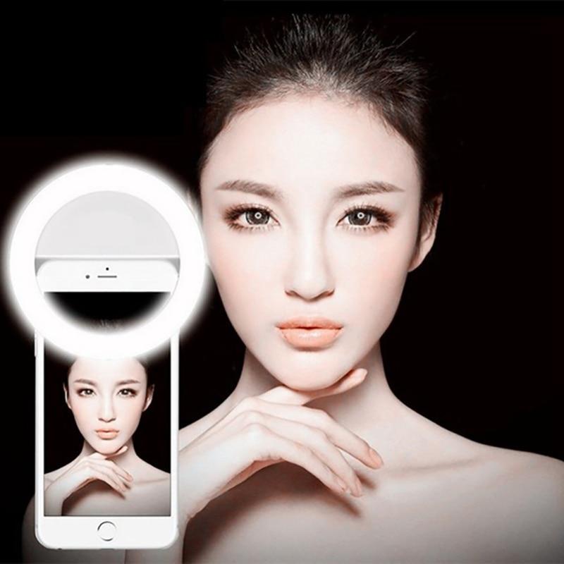 Rainwayer 36 lámparas LED luz Selfie para Iphone iluminación noche oscuridad fotografía anillo Selfie anillo para todos los teléfonos inteligentes A2