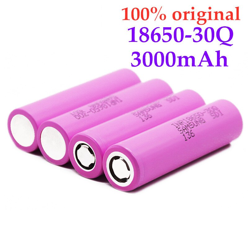 100% Оригинал 3,7 V 18650 батарея 3000mAh INR18650 30Q 20A разрядка литий-ионная аккумуляторная батарея для фонарика Прямая поставка