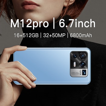 Xiao M12 Pro  Qualcomm 888  Android 11.0  6800mAh 16GB 512GB  6.7inch Smartphone Dual SIM 32+50MP 4G LTE 5G  GPS MobilePhones