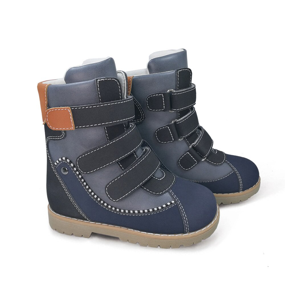 Kids Casual Shoes High Top Orthopedic Winter Boots Children Boy Girls Pink Black Leather Long Warm Booties For Toddler Babies enlarge