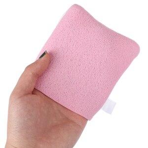 1PCS 4 Colors Reusable Microfiber Facial Sponge Face Towel Makeup Remover Cleansing Glove Random
