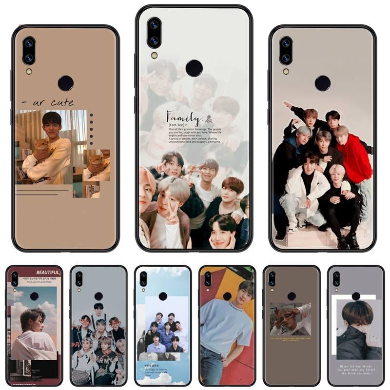 kpop boy Korean Group bangtan Custom Photo Soft Phone Case For Xiaomi Redmi Note 4 4x 5 6 7 8 pro S2 PLUS 6A PRO