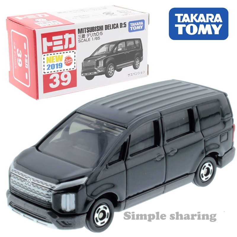 Takara-tomy Tomica n. ° 39 mitsubishi delica d kit de 5 modelos 1 65 juguete de coche fundido en miniatura juguetes para bebés pop muñecas divertidas para niños