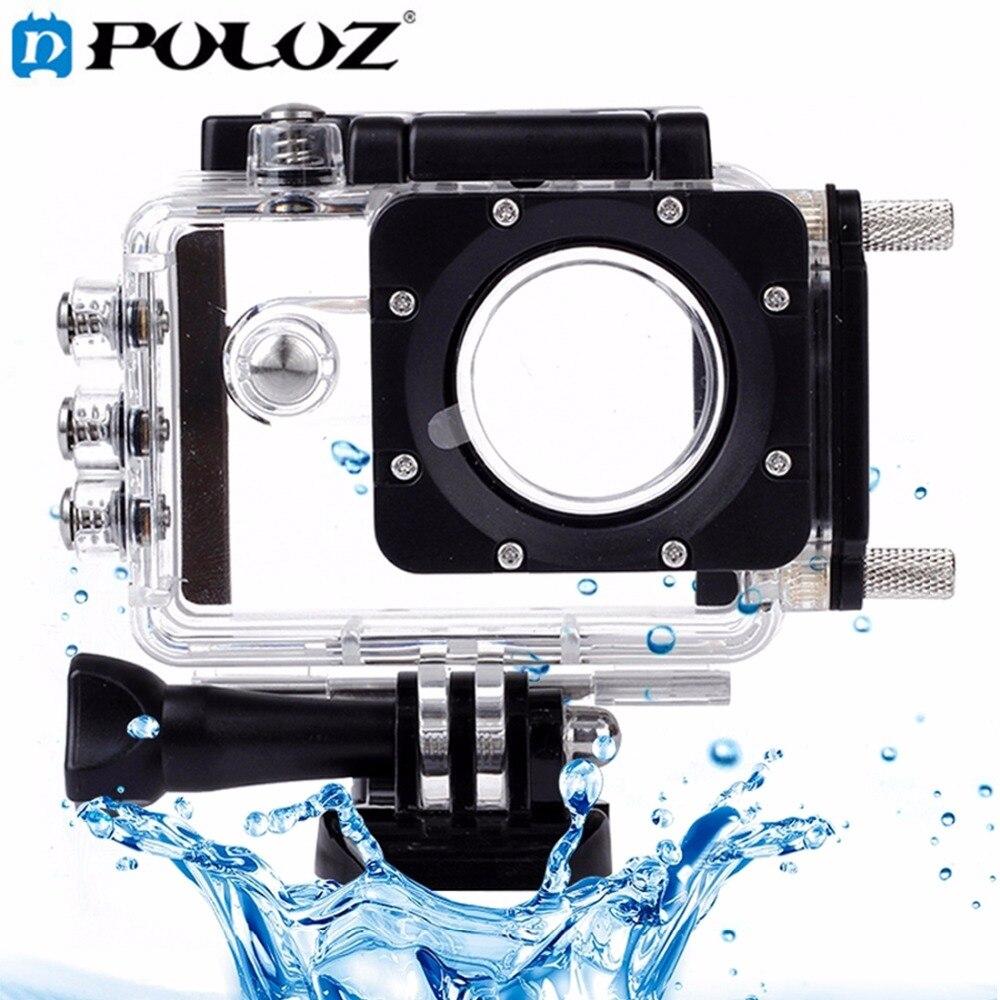 PULUZ-طقم غطاء واقي مقاوم للماء مع شاحن سيارة ، للكاميرات الرياضية تحت الماء ، SJCAM SJ5000/SJ5000 Plus/SJ5000 WiFi