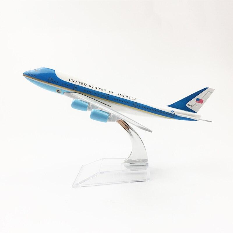 1/400 escala de metal avião modelo da força aérea uma american airlines boeing 747 diecast airways coleção brinquedos para crianças