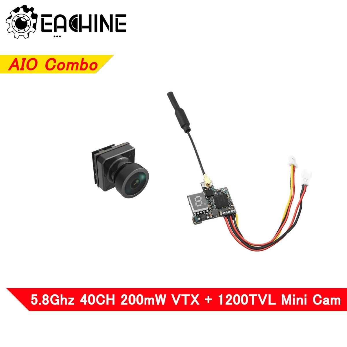 Eachine-Mini caméra transmetteur FPV, VTX02 + Foxeer Pico Razer, Combo 5.8GHz 40ch VTX 1200TVL, ensemble de Mini caméra pour Drone RC Racing