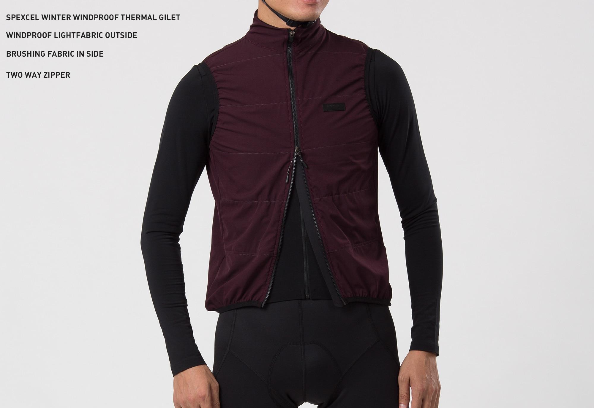SPEXCEL, новинка зимы 2019, ветрозащитная и термостойкая флисовая жилетка для велоспорта, двухслойная жилетка для велоспорта, двусторонняя жилетка на молнии