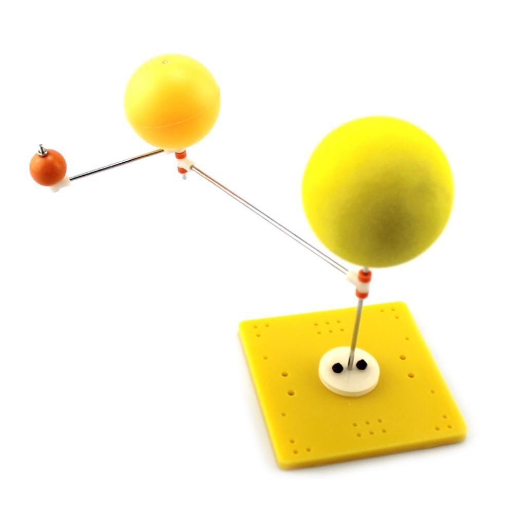 DIY ensamblado Tierra Luna sol Orbital modelo planetario juguetes educativos de geografía adecuado para jóvenes etapas de desarrollo del cerebro
