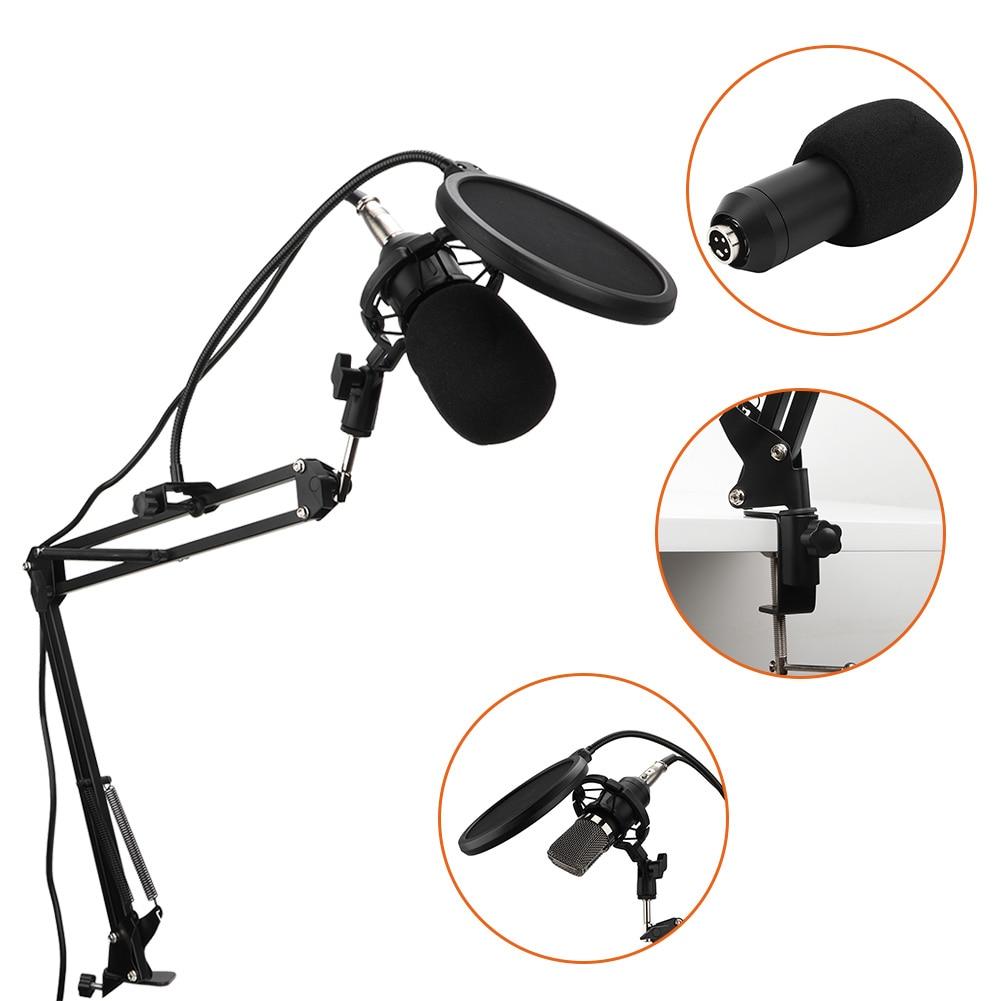 Micrófono de estudio BM700, micrófono de grabación en vivo PARA Karaoke en línea con soporte antigolpes para teléfono y PC