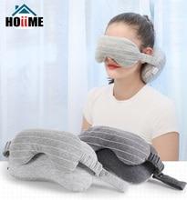 Oreiller créatif masque oculaire multi-usage   Oreiller couvre-cou, coussin, masque de couchage, oreiller pour voyage, particules de mousse, garniture, Stripend