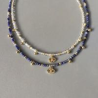 Женское колье ручной работы, изысканное ожерелье из натурального камня с бусинами, очаровательный аксессуар с узором в виде глаз, женская б...