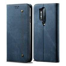 Pour Oneplus 8 Pro étui à rabat 360 tissu de protection solide portefeuille couverture de téléphone pour Oneplus 8 étui un Plus 8 Pro étui Oneplus8 Fundas