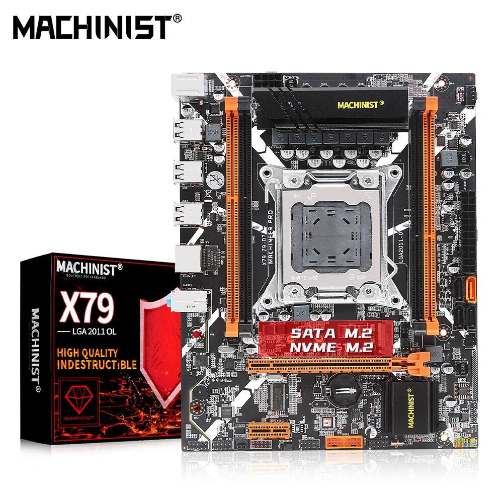 ماشينيست X79 اللوحة كومبو LGA 2011 دعم سيون E5 V1 V2 معالج DDR3 ECC أو غير ECC ذاكرة عشوائية M.2 NVME NGFF X79 Z9-D7