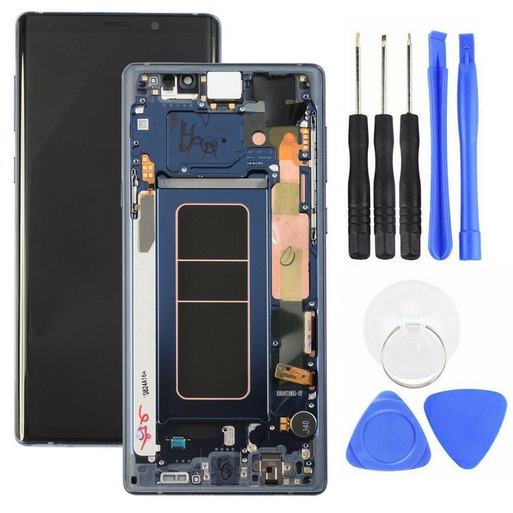 محول رقمي لشاشة LCD تعمل باللمس بإطار ، لهاتف Samsung Galaxy Note 9 N960 ، أدوات إصلاح الهاتف ، أجزاء الهاتف الخلوي