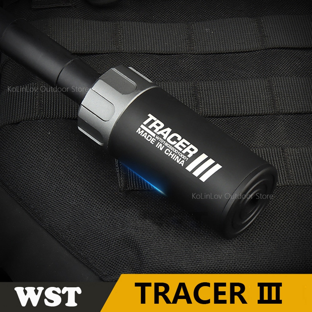 Paintball Airsoft Tracer Lighter 14mm CCW For Shooting Rifle Pistol Auto  Fluorescence Tracer S Upgraded version WST Tracer
