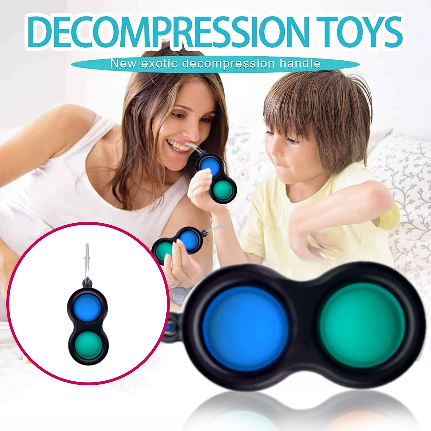 3PC Simple Dimple Fidget Toy For Children Adult Popit Keychain Simpel Dimpel Toy Stress Relief Board Sensory Toys антистресс W* enlarge