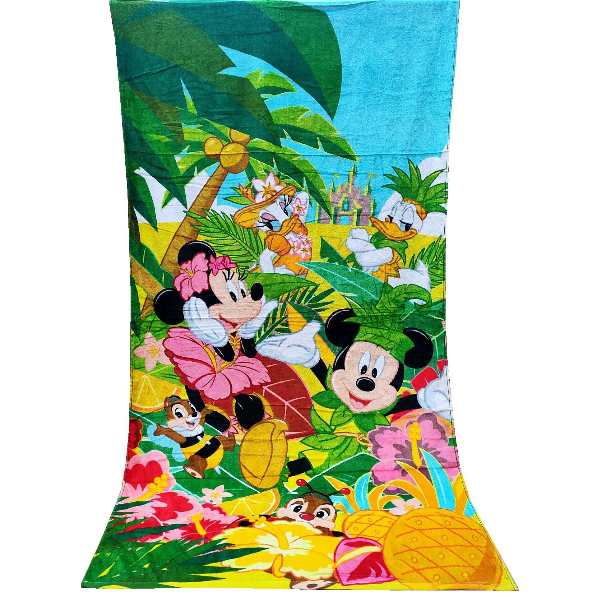 Minnie de Disney de baño de Mickey Mouse, toalla de algodón de 100% para niños, toalla de playa de verano, toalla de ducha, toalla de jardín de infancia
