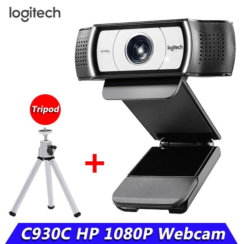 لوجيتك-كاميرا ويب ذكية C930c ، كاميرا ويب عالية الدقة 1080 بكسل مع غطاء للكمبيوتر ، عدسة زايس ، كاميرا فيديو USB ، تقريب رقمي 4 مرات