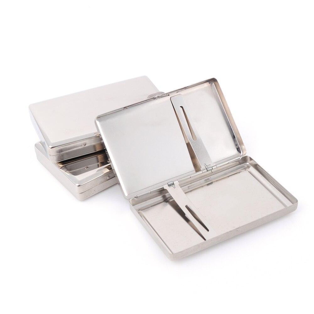 Чехол для сигарет коробка для хранения табака маленькие сигареты sigar гаджеты для мужчин нержавеющая сталь держатель контейнер подарок для ...