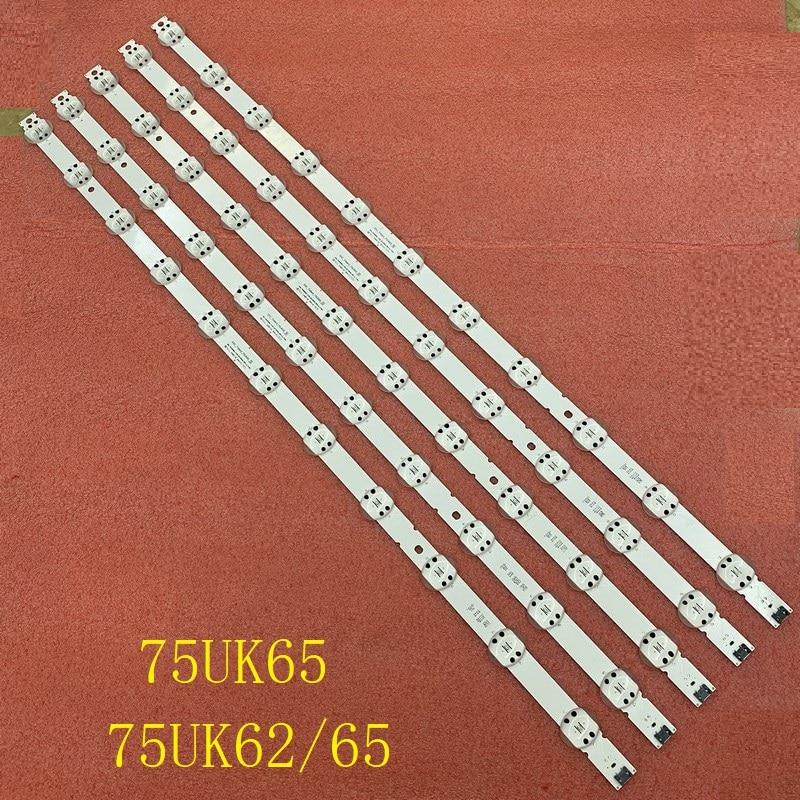 عمود إضاءة LED (5) ل LG 75UK6500PLA 75UK6200PLB 75UK6570PUB AGM76249101 SSC_TRIDENT_75UK65_S 75UK62/65 SVL750A24 75UK6190PUB 75UN6950