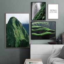 Affiche scandinave nordique paysage impression hiver montagne paysage mur Art toile peinture Nature photo moderne décor à la maison
