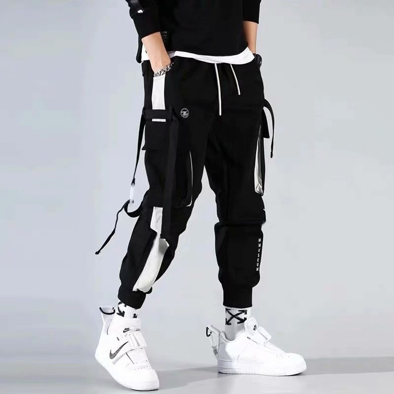 Men Cargo Pants 2021 Streetwear Harajuku Fashion Clothing Jogger Japanese Korean Stylish Running Mal