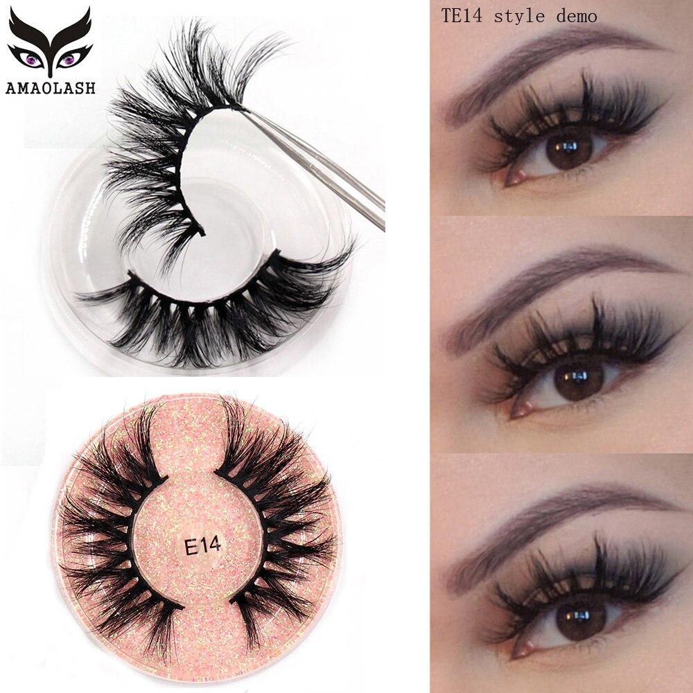AMAOLASH 3D Mink Lashes 100% Cruelty Free Mink Eyelashes Popular Reusable Eye Lashes Handmade Natura