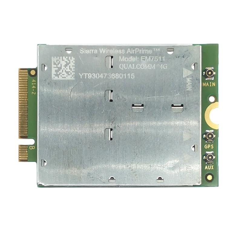 EM7511 بطاقة الشبكة اللاسلكية لأجهزة الكمبيوتر المحمول سييرا اللاسلكية Cat-12 LTE 4G وحدة مع CBRS أول صافي