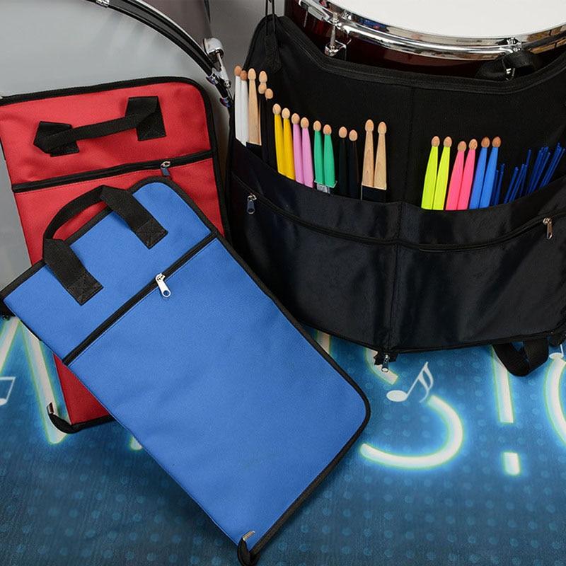 Baquetas paquete bolsa impermeable gruesa Oxford caja de palo de tambor electrónico puede tener puntuaciones A4
