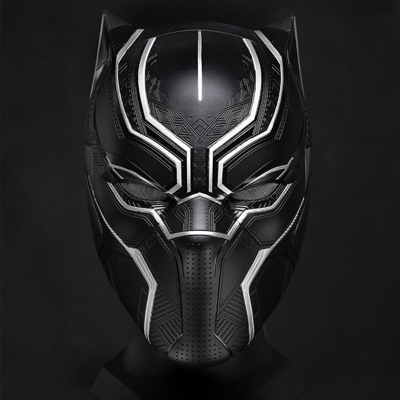 Disney Avengers Black Panther Helmet Cool Hand-made Collection Model Ornaments Wearable Helmet Collection Toys