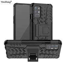 For Oneplus 9R Case Robot Silicone Shell Coque Rubber Hard Stand Protector Case For Oneplus 9R Cover