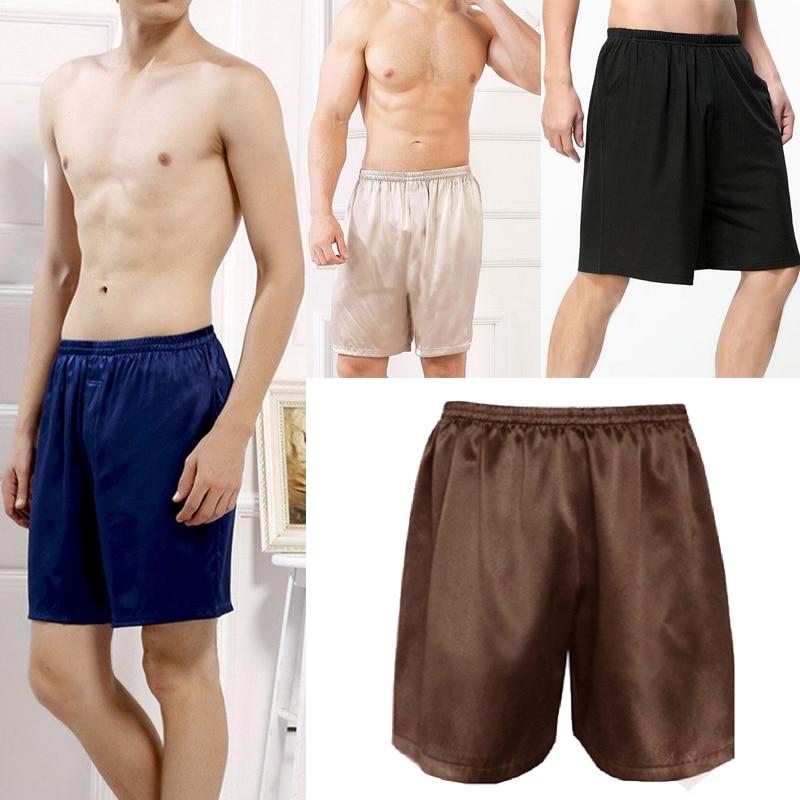 2020 Повседневная свободная Мужская атласная Шелковая пижама, шорты, летняя Пижама, мягкая сексуальная пижама, нижнее белье