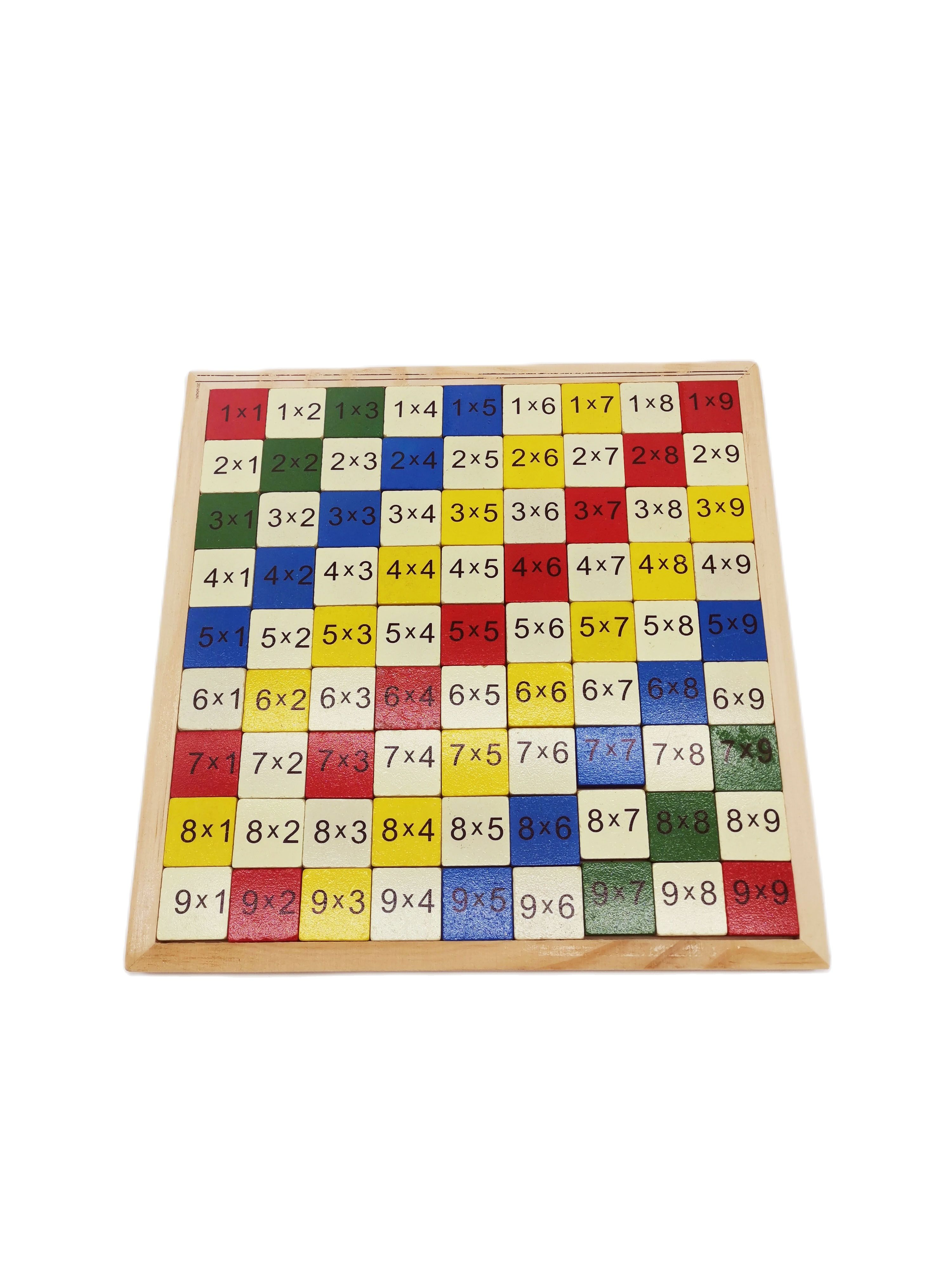 9X9 Multiplication Table Math Toys Wooden Montessori Early Educational Mathematical Arithmetic Teaching Aids For Children Baby